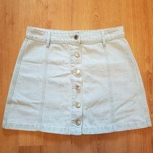 Forever 21 - Light Denim Button Up Mini Skirt